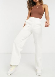 ASOS 4505 wide leg sweatpants with button front detail and pintuck
