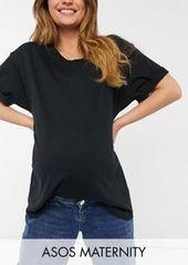 ASOS DESIGN Maternity ultimate oversized t-shirt in black