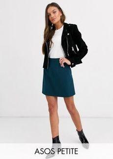 ASOS DESIGN Petite tailored a-line mini skirt