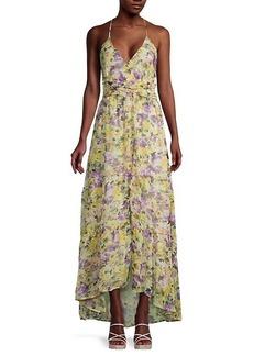 ASTR Amy Floral High-Low Maxi Dress