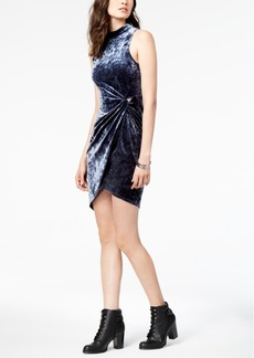 Astr The Label Avalon Velvet Wrap Dress