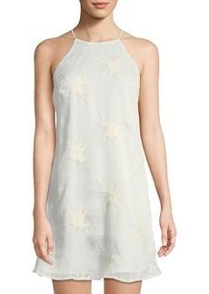 ASTR Cecilia Embroidered Mini Dress