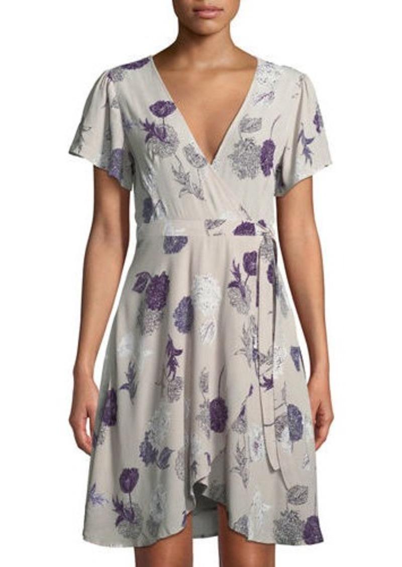 aefa5f0aee6 ASTR ASTR Floral Flutter-Sleeve Wrap Dress   Dresses