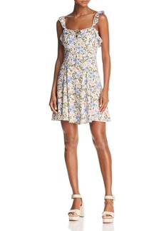 ASTR Hannah Ruffled Floral Print Dress