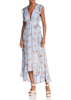 ASTR Lila Ruffled Maxi Wrap Dress