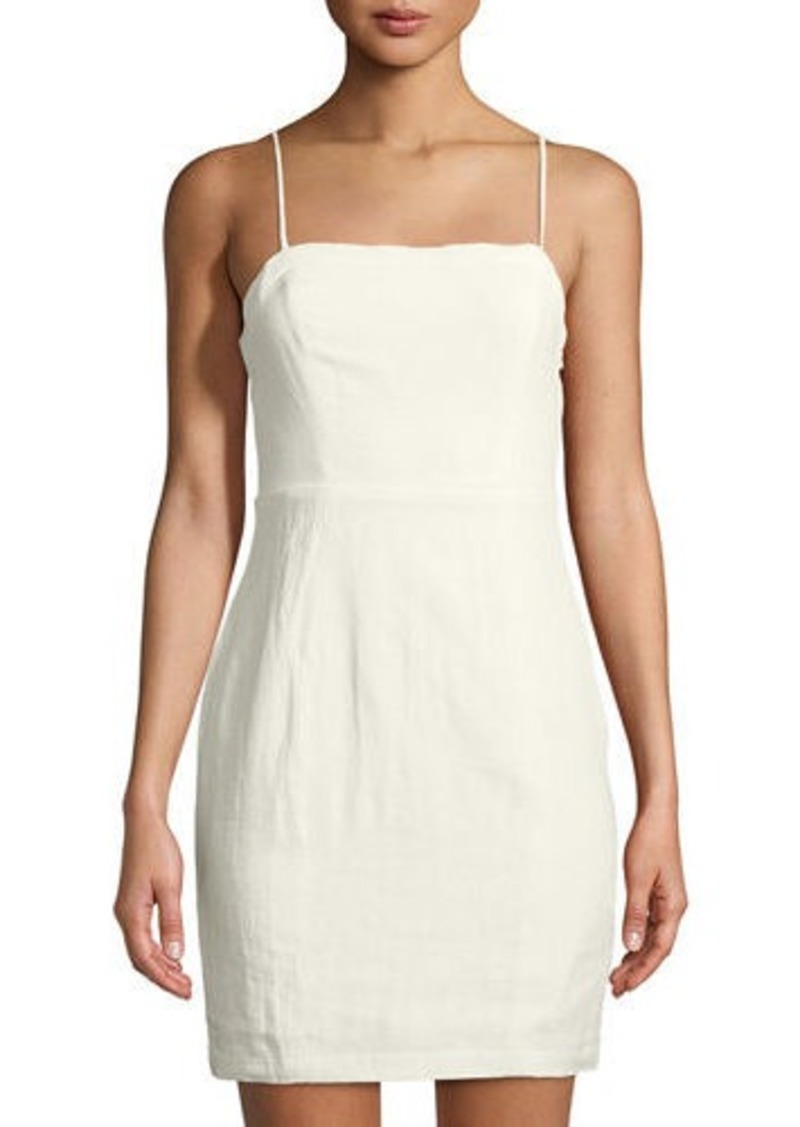 be735719efb ASTR ASTR Linen Square-Neck Mini Dress