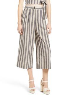 ASTR Stripe Crop Wide Leg Pants
