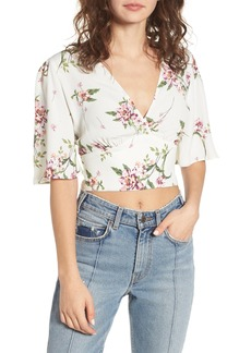 ASTR Surplice Crop Top