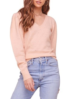 ASTR the Label Abigail Puff Sleeve Embellished Sweater