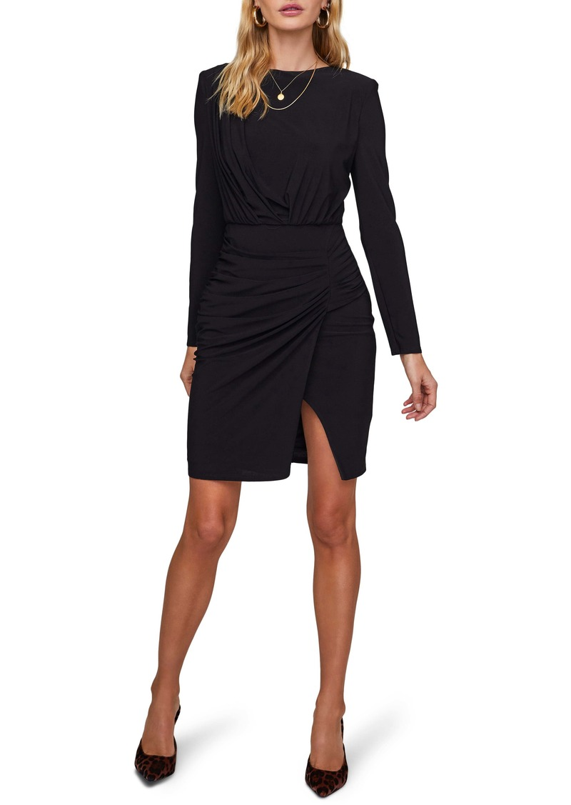 ASTR the Label Artemis Ruched Long Sleeve Dress