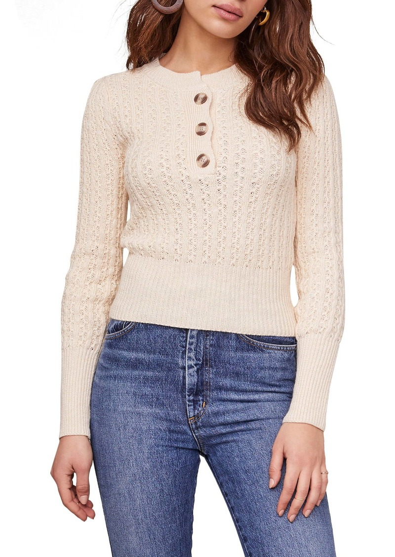 ASTR the Label Cotton Blend Sweater