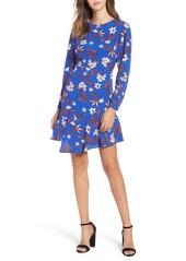 ASTR the Label Asymmetrical Ruffle Hem Dress