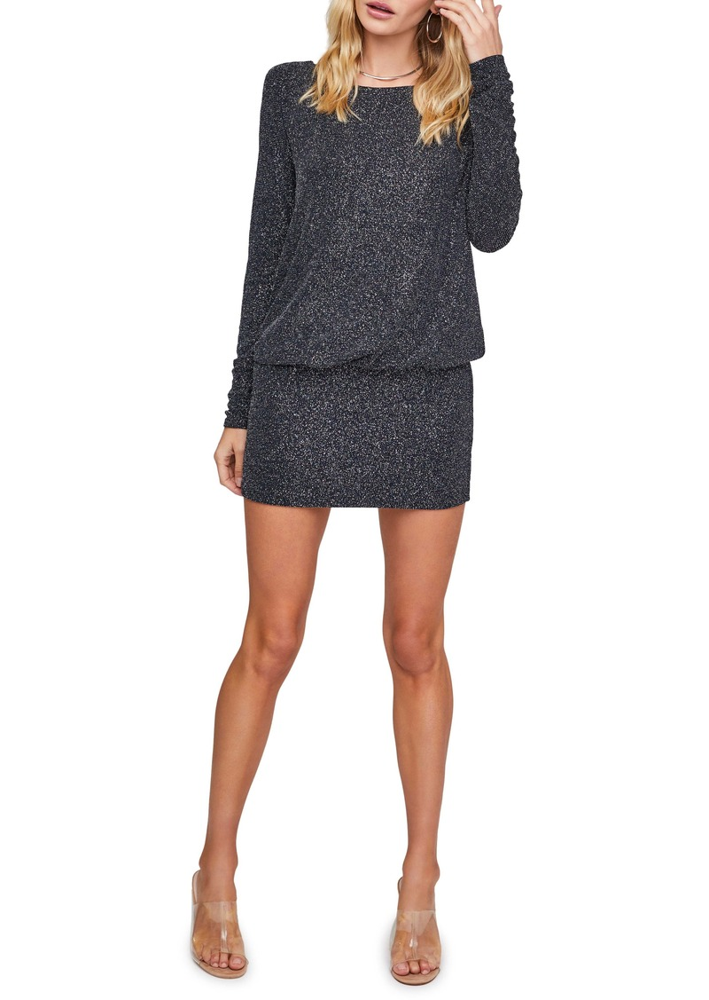 ASTR the Label Backstage Long Sleeve Drape Back Minidress