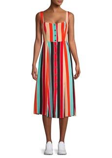 ASTR The Label Charlotte Striped Tie Dress