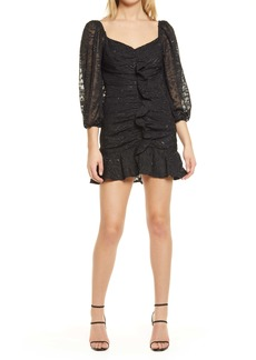 ASTR the Label Cinched Ruffle Minidress