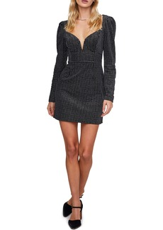 ASTR the Label Countdown Houndstooth Long Sleeve Minidress