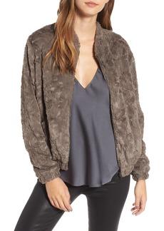 ASTR the Label Danika Faux Fur Bomber Jacket