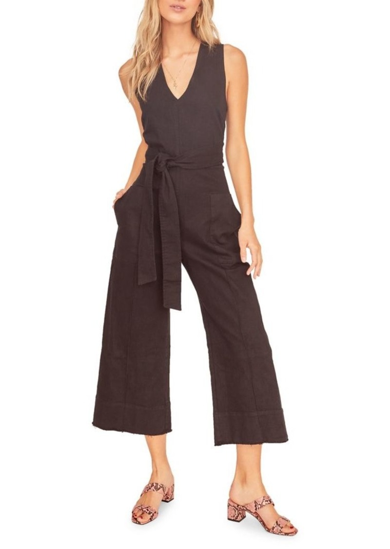 ASTR The Label Daydream Belted Back Wrap Jumpsuit