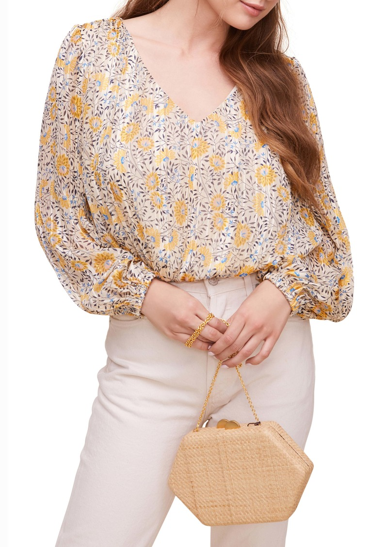 ASTR the Label Floral Pleated Blouse