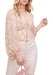 ASTR the Label Floral Print Blouson Sleeve Top