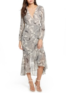 ASTR the Label Floral Print Faux Wrap Dress