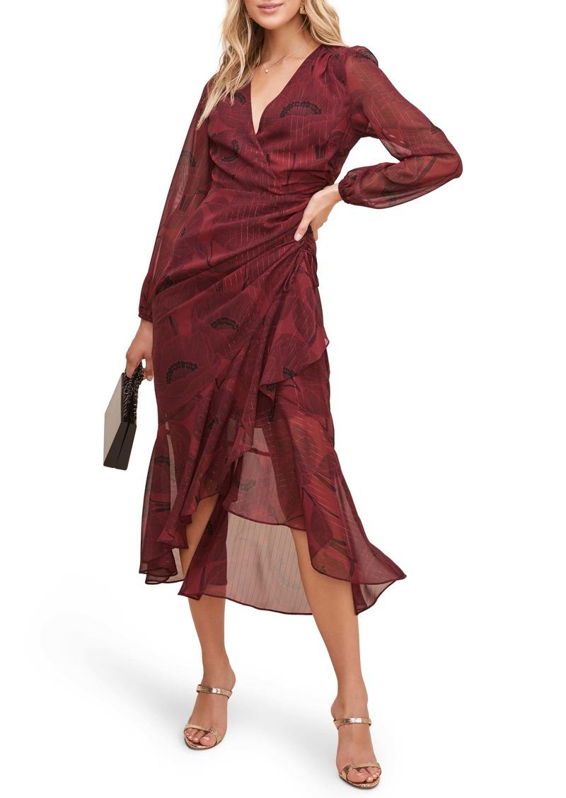 ASTR the Label Floral Print Faux Wrap Dress