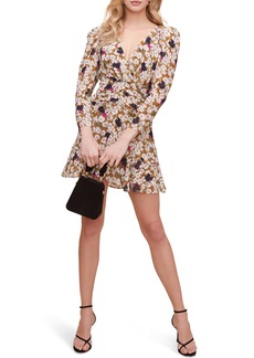 ASTR the Label Floral Ruched Waist Minidress