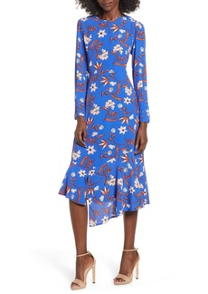 ASTR the Label Flower Print Asymmetrical Hem Dress