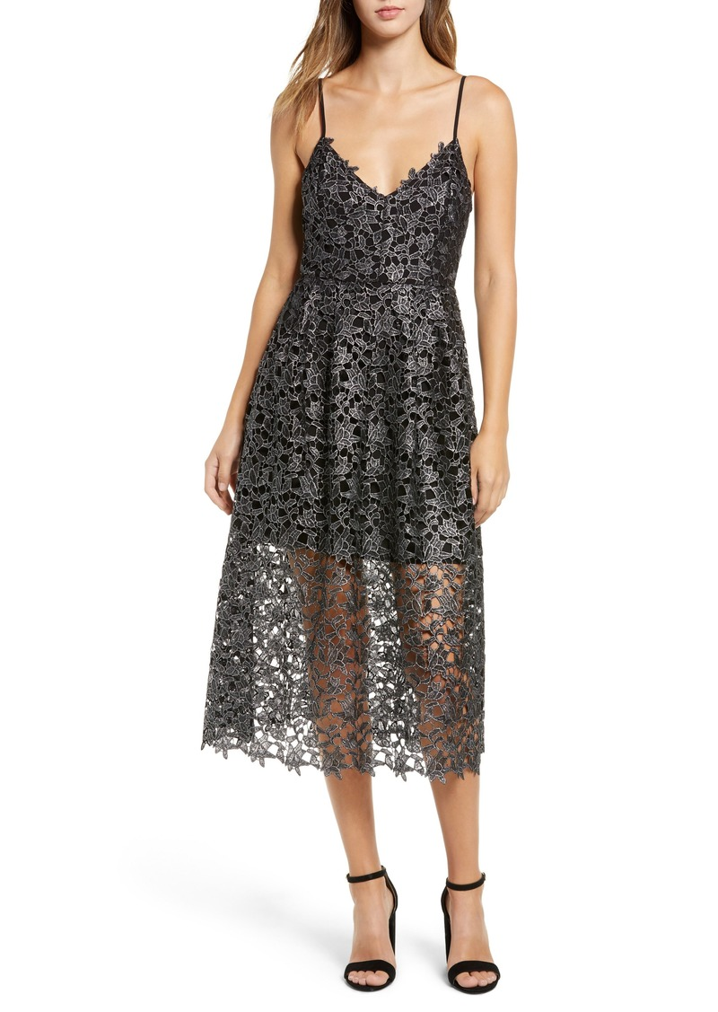 03deabca053e ASTR ASTR the Label Metallic Lace Midi Dress