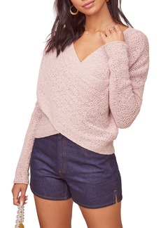 ASTR the Label Mae Wrap Front Cotton Sweater