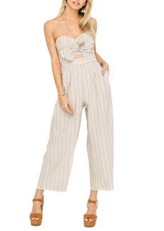 ASTR the Label Mara Strapless Cotton & Linen Jumpsuit