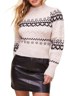 ASTR the Label Maria Fair Isle Sweater