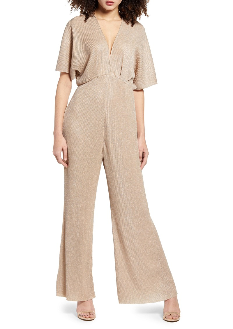 ASTR the Label Metallic Dolman Jumpsuit