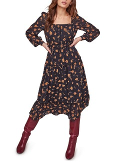 ASTR the Label Padma Floral Square Neck Long Sleeve Dress