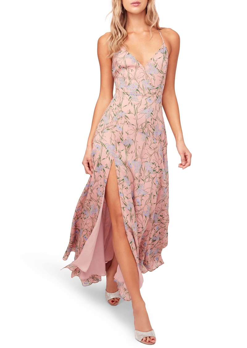 ASTR the Label Pandora High Slit Floral Print Maxi Sundress