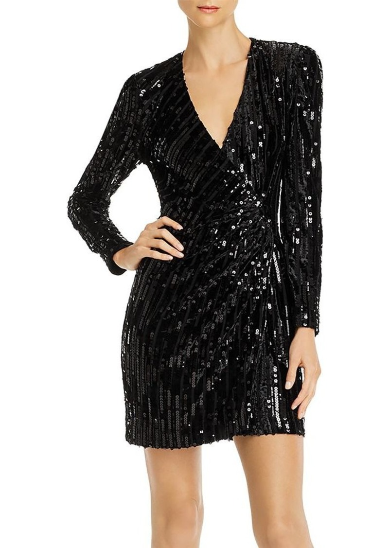 ASTR the Label Paris Sequined Wrap Dress