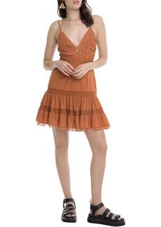 ASTR the Label Pauline Lace Detail Cotton Sundress