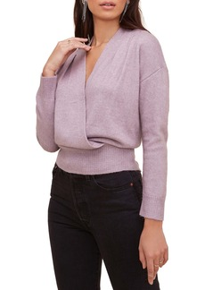ASTR the Label Pleated Wrap Front Sweater