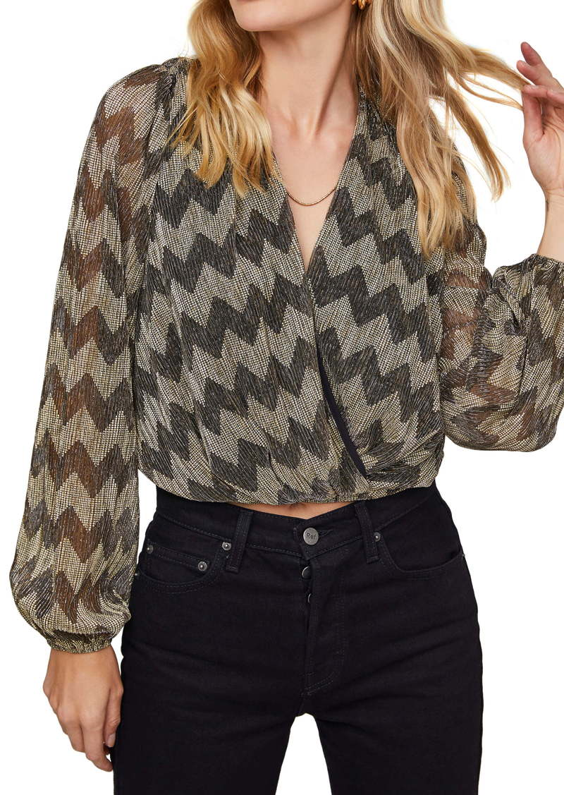 ASTR the Label Primadonna Sequin Chevron Top