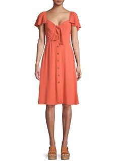 ASTR The Label Rachelle Button-Front Dress
