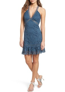 ASTR the Label Ruffle Hem Lace Dress