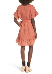 d00f04cdfcd ASTR ASTR the Label Ruffle Linen Blend Wrap Dress