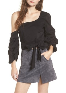ASTR the Label Ruffle One-Shoulder Blouse