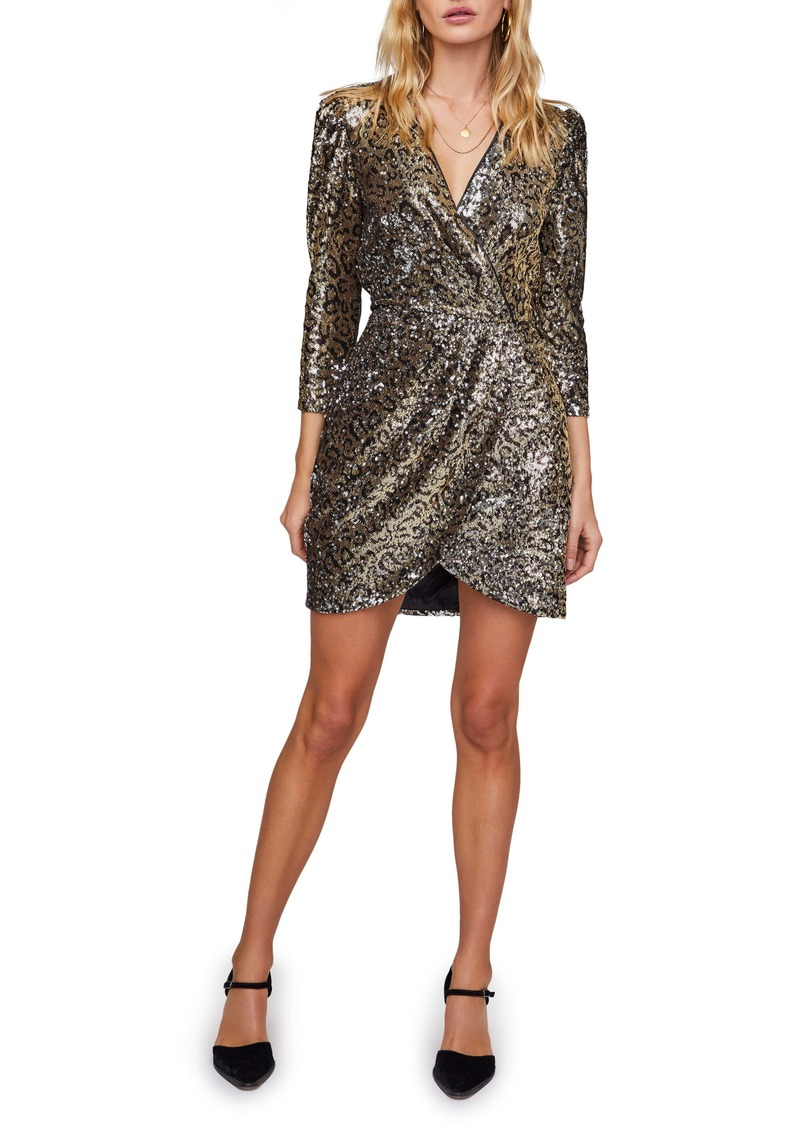 ASTR the Label Selene Long Sleeve Sequin Minidress