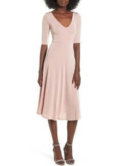 ASTR the Label Shine Cross Back Midi Dress