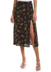 Astr The Label Side Slit Midi Skirt