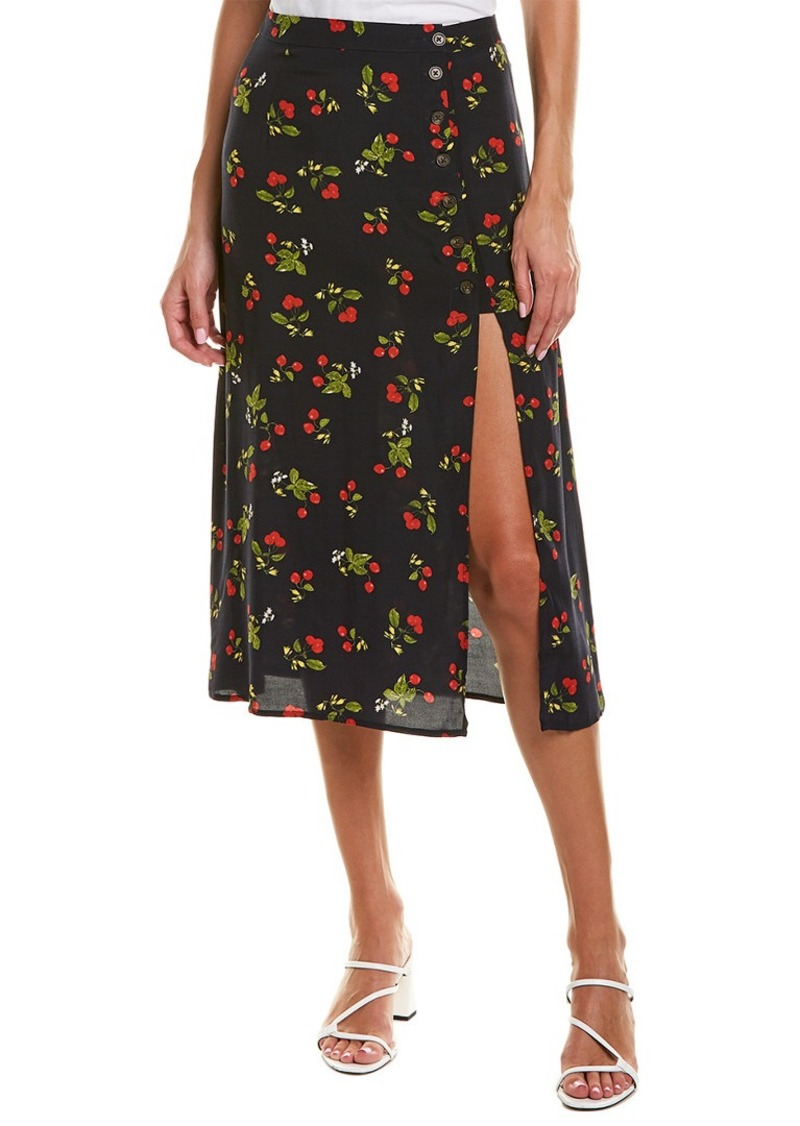Astr The Label Side Slit Midi Skirt