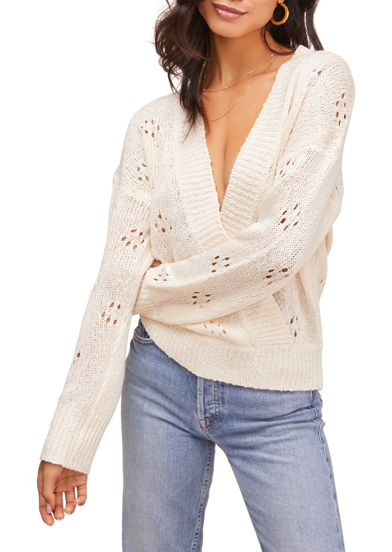 ASTR the Label Stephanie Faux Wrap Sweater