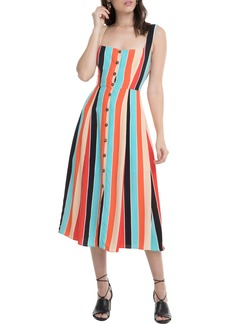 ASTR the Label Stripe Midi Dress