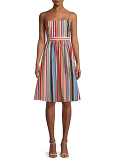 ASTR The Label Striped A-Line Dress
